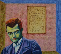 © 2014 Jan Aronson - Paul Klee with Document, Oil on Canvas, 32x36